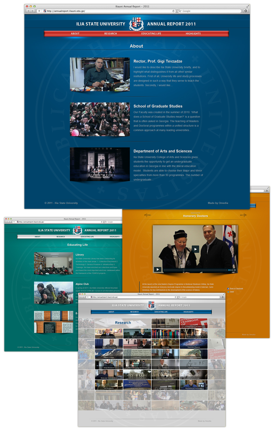 Ilia State University annual report
